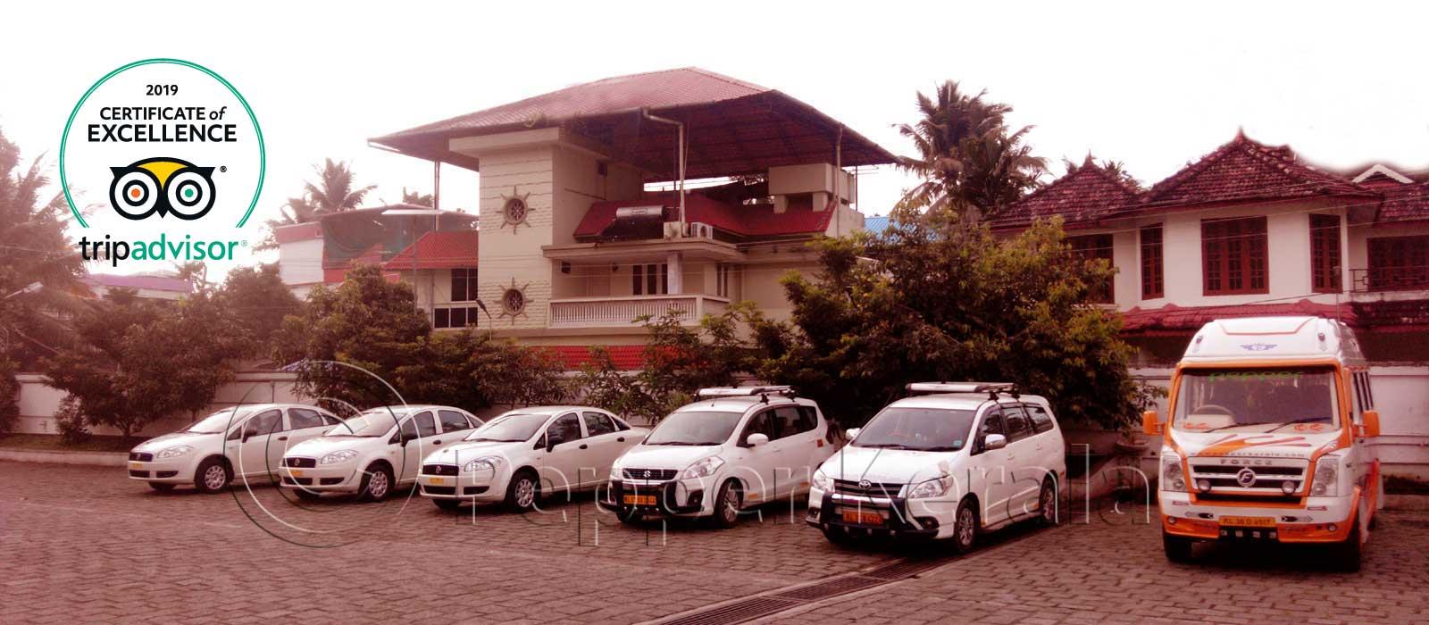 Travels in Cochin-Kerala Taxi Packages-Kochi Car rentals